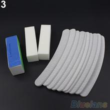 13PCS Nail Art Sanding Files Buffer Block Manicure Pedicure Tools UV Gel Set 1VHT(China (Mainland))