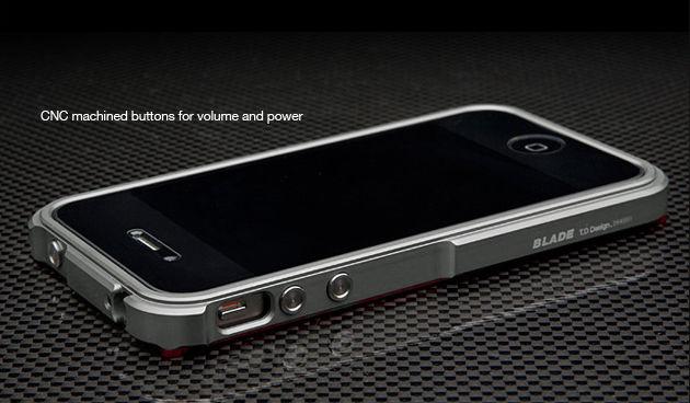 TX Blade i4 capa fundas Aluminum Bumper frame For iPhone4 iPhone 4S metal Bumper screwdriver 2 Film 1 Box