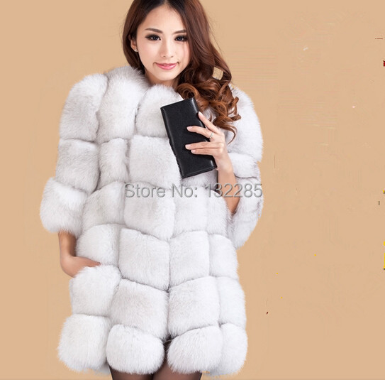 Luxury Genuine Natural Fox Fur Coat Women's Real Jacket Winter Lady New Fashion Trench Outerwear Coats Clothing