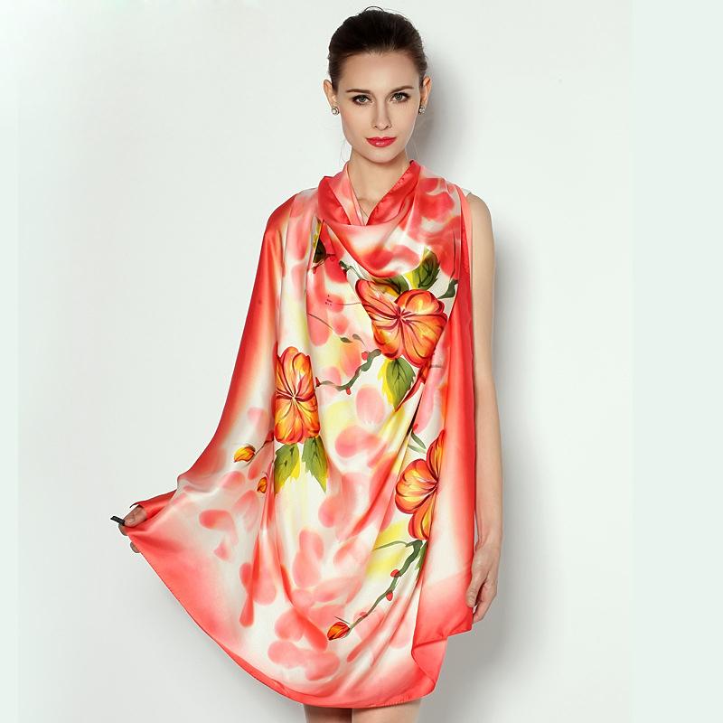100 silk square scarves large size 110cm x 110cm