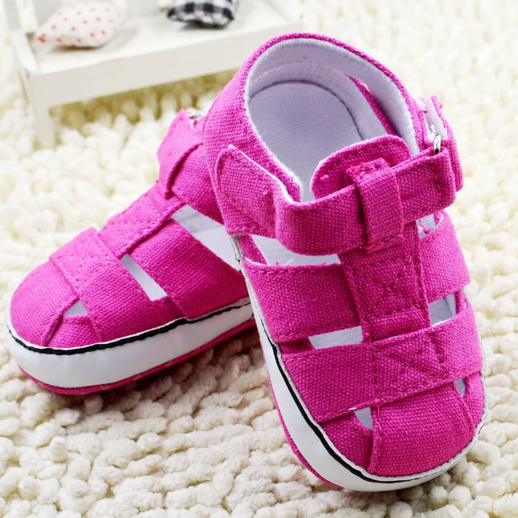 2015 summer fashion canvas baby boys girls sandals white pink navy hot sale prewalkers free shipping(China (Mainland))
