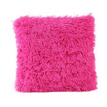 45*45cm 12 colors Long plush fashion home ornament pillow cover cases square soft wait cushion case fluff pillowslip drop ship(China (Mainland))