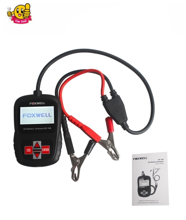 free shipping BT100 FOXWELL BT100 Auto Car 12 Volt Battery Analyzer Diagnostic Tool BT 100 Tester Car Battery Tester for car(China (Mainland))