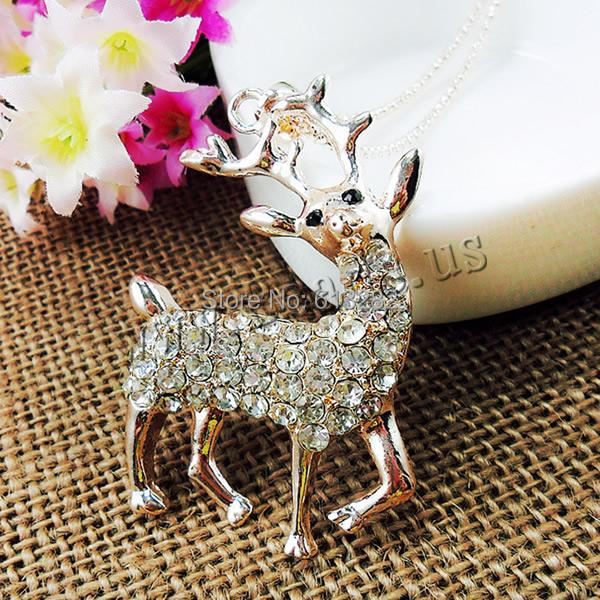 Free shipping!!!Zinc Alloy Sweater Chain Necklace,ethnic, Deer, gold color plated, lantern chain &amp; with rhinestone, nickel<br><br>Aliexpress