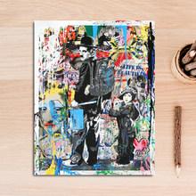 Абстрактный граффити любовь ответ сердце улица художественные полотна картины стены искусства картина плакатный принт для гостиной домаш...(China)