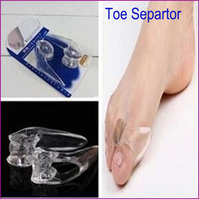 New 2015 Transparent Silicone Toe Separator Gel Separators Stretchers Bunion Protector Straightener Corrector Alignment Thumb