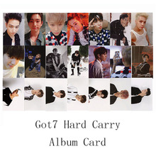 Youpop KPOP GOT7 Hard Carry Album Photo Card K-POP Self Made Signature Paper Cards Autograph Photocard XK377(China (Mainland))