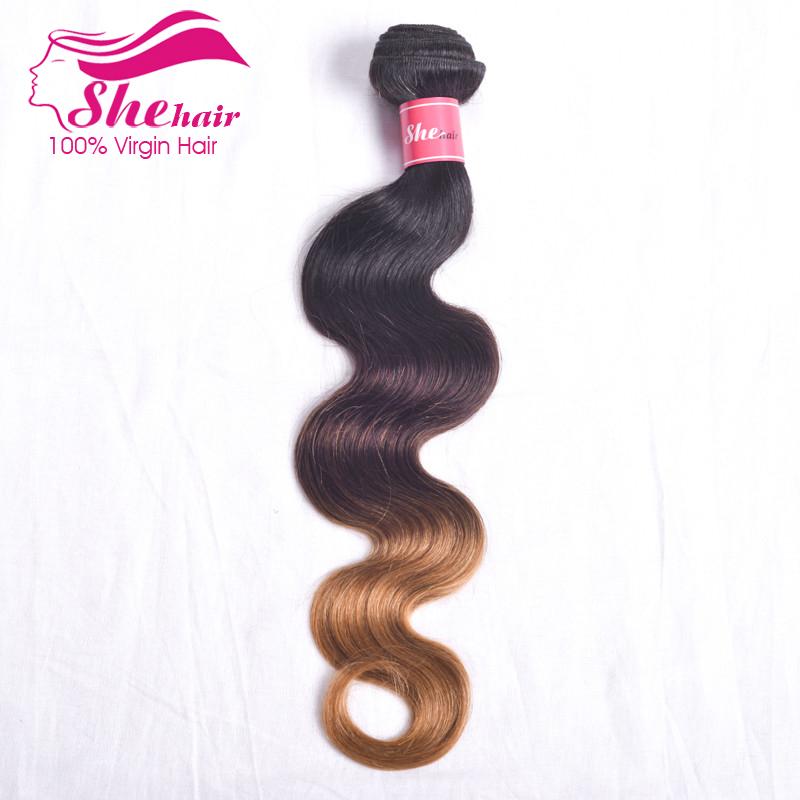 3 Tone T1b/4#/27# Ombre Peruvian Hair Silky Straight 3pcs Unprocessed Peruvian Virgin Hair Straight No Tangle Human Hair Weaves