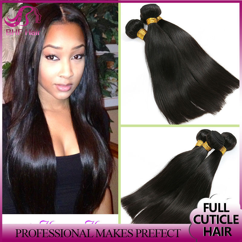 Rosa Hair Products Chinese Virgin Hair Straight 3Bundles,6A Unprocessed Chinese Straight Hair Extension 100% Human Hair Weave(China (Mainland))