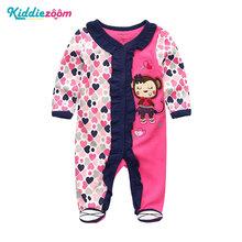 2019 High Quality Unicorn Little Devil Rainbow Horse Bodysuit Baby Girl Clothes Roupa de bebe Baby Boy Clothes Newborn(China)