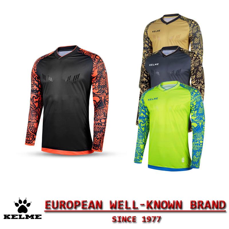KELME Spain Official Men Soccer Jerseys 2016 2017 Football Shirt Survetement Football Jersey Maillot de Foot Goalkeeper Cloth 28(China (Mainland))