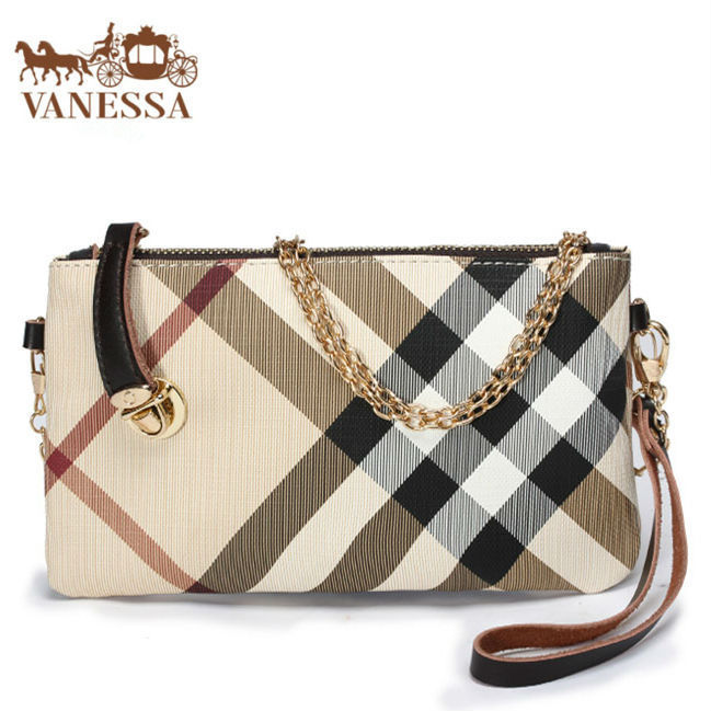 New England Fashion Style Clutch Women Handbag Plaid Design Lady Gift Wallet Shoulder Bag Females Messenger Bags Leather tote(China (Mainland))