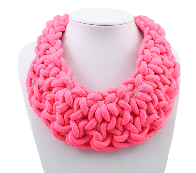 Neon color knitted fashion four seasons necklace popular cotton necklaces candy color 0506<br><br>Aliexpress