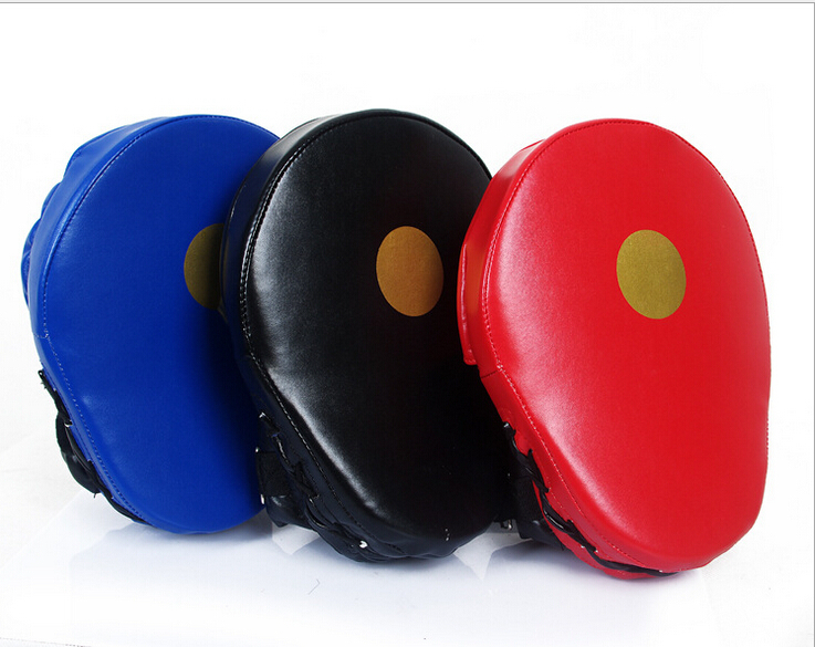 2pcs high-grade PU arc thickening Sanda foot target / Taekwondo foot target / target boxing Boxing / Sanda training hand target(China (Mainland))