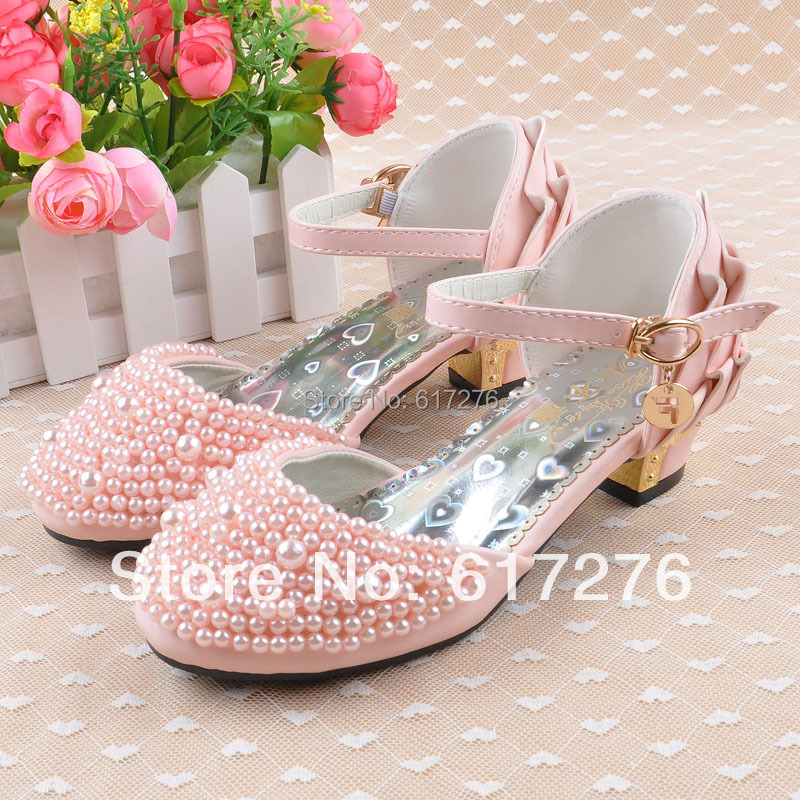 2015 new children summer high heels sandals classic princess girls shoes mary jane pink ,white - Hello Club Online Store store