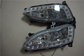 Free shipping by EMS drl LED daytime running light fog fit for hyundai santa fe ix45