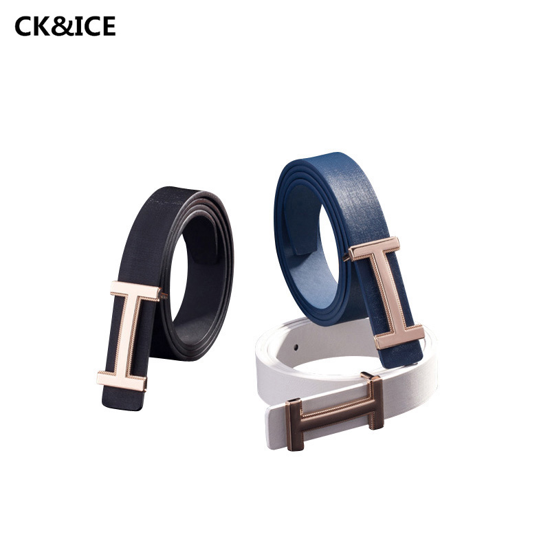 Hot 2017 Woman Belt Simple Alphabet Smooth Buckle Belt Woman's Casual PU Leather All-Match Business Women Brand Belt(China (Mainland))
