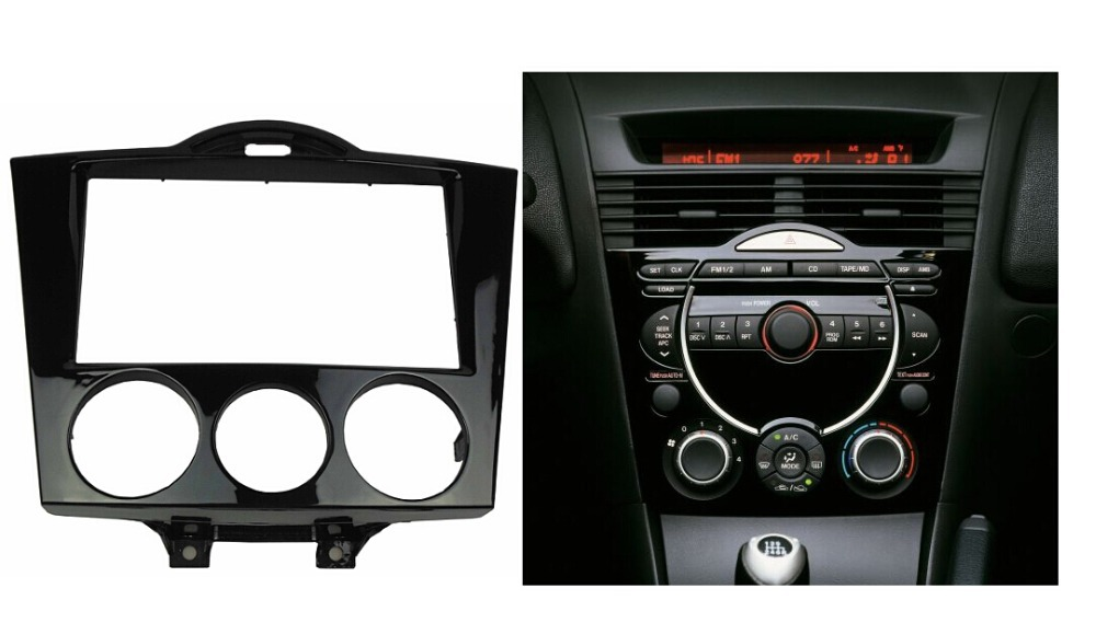 Double Din CD DVD Stereo Audio Panel For MAZDA RX-8 RX8 Fascia Radio Refitting In-Dash Mount Install Dash Kit Face Plate(China (Mainland))
