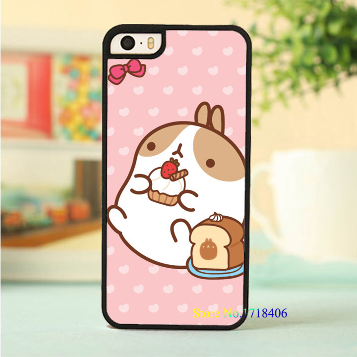 molang cell phone case cover for iphone 4 4s 5 5s 5c SE 6 6s & 6 plus 6s plus #5910an