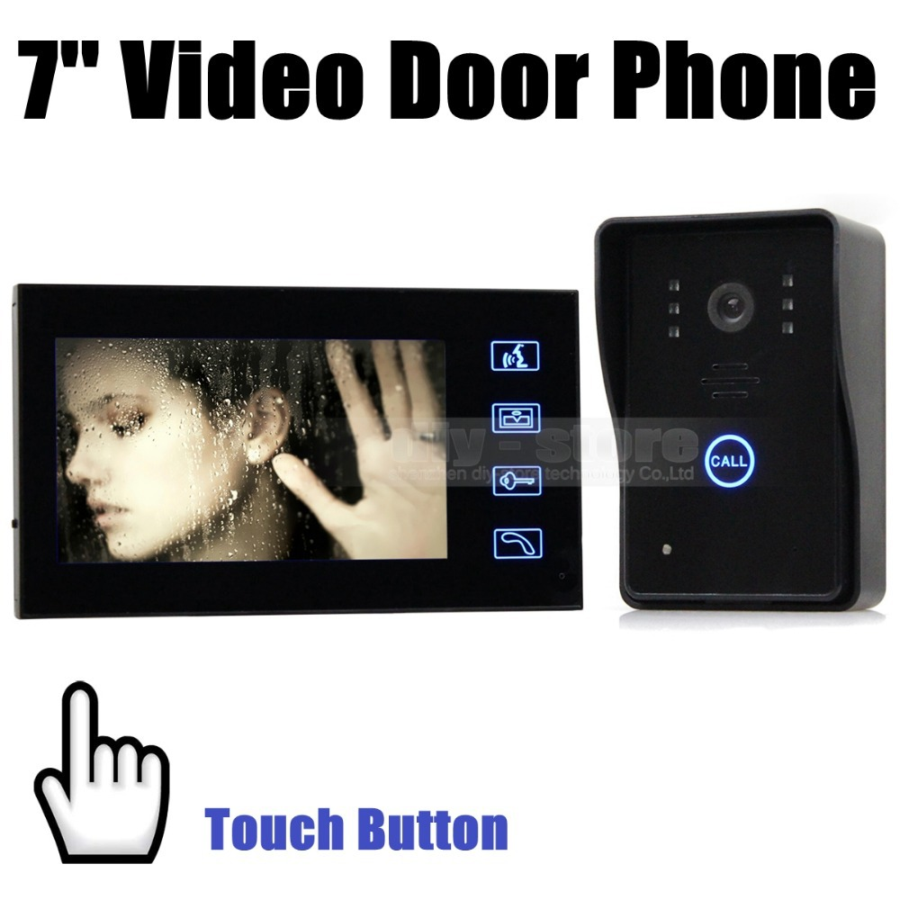 Door Phone Doorbell Touch Key 7 inch Lcd Video With IR Camera Of Home Entry Intercom SY806MJ11<br><br>Aliexpress