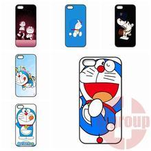 For Apple iPhone 4 4S 5 5C SE 6 6S Plus 4.7 5.5 iPod Touch 4 5 6 Cute Japan Cartoon Animals Doraemon Unique photos print Diy