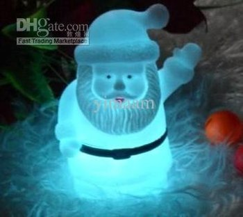 7colorful Colorful Christmas snowman LED night Lamp light lighting/change 7 color//LED Decorations