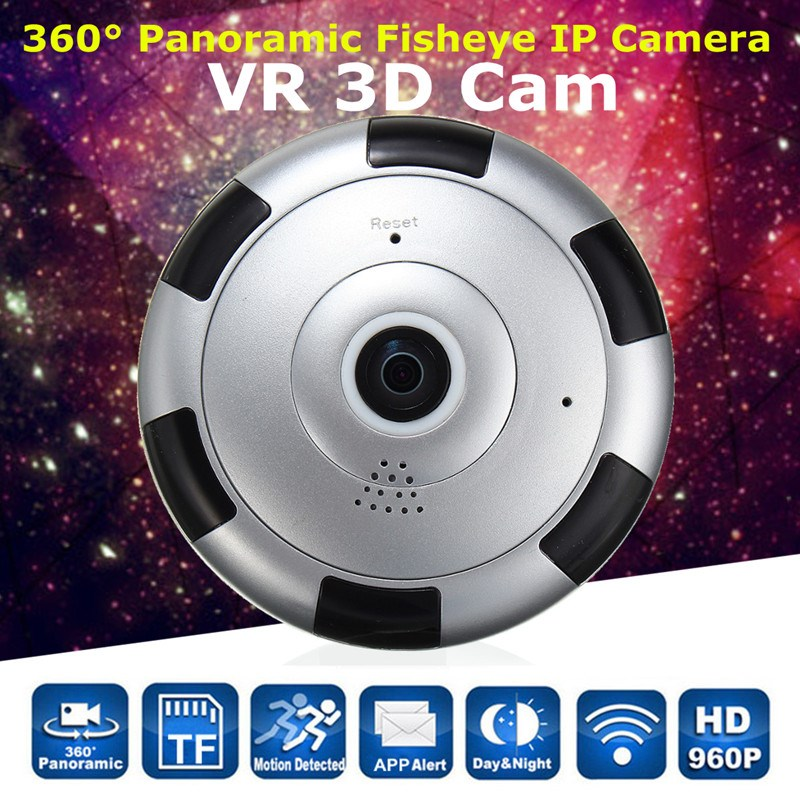 360 degree HD 960P Panoramic Fisheye IP Camera Wifi Security Surveillance Camera VR 3D Webcam Home Security(China (Mainland))