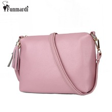 Buy New arrival simple PU leather women messenger bag candy colors women bags tassel leather bag match cross-body bag WLHB1374 for $14.88 in AliExpress store