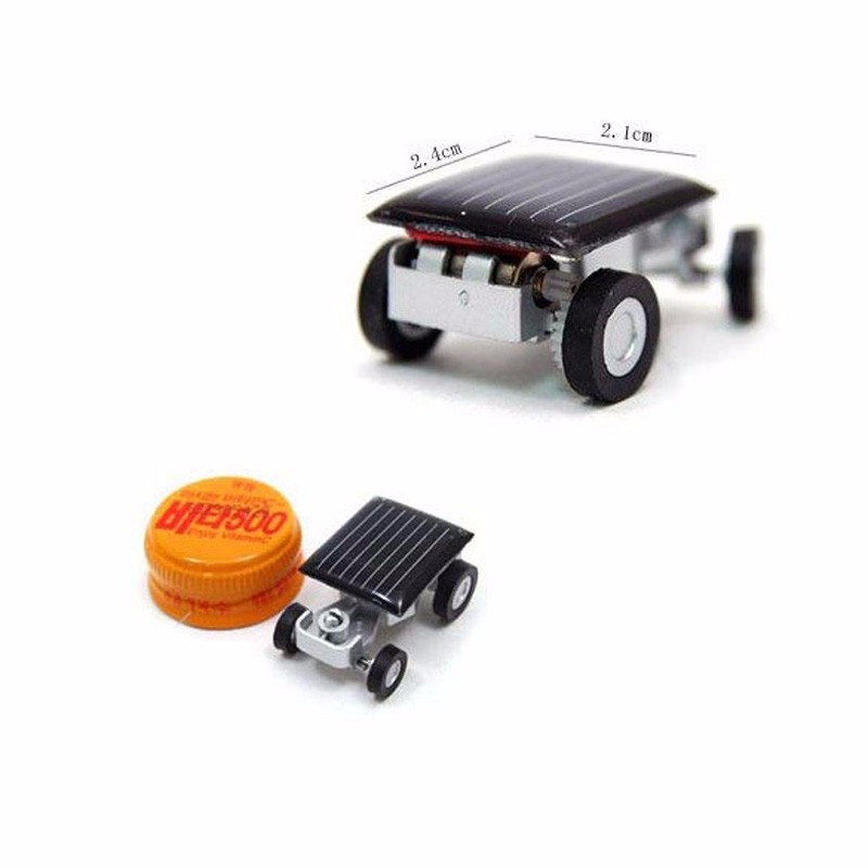 Smallest Mini Car Solar Powered Toy Car New Mini Children Solar Toy Gift Freeshipping FCI# #10(China (Mainland))