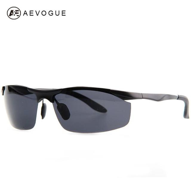 Aevouge бренда спортивной металлический каркас марка поляризованных солнцезащитных очков мужчины Al Mg сплава поляроидный сверхлегкий солнцезащитные очки UV400 AE0130