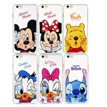 Coque Mickey Minnie Case Soft TPU For iPhone 7 7 Plus 4S 5 5S 5C 6 6S for Samsung Galaxy J3 J5 A3 A5 2016 S3 S4 S5 S6 S7 Edge(China (Mainland))