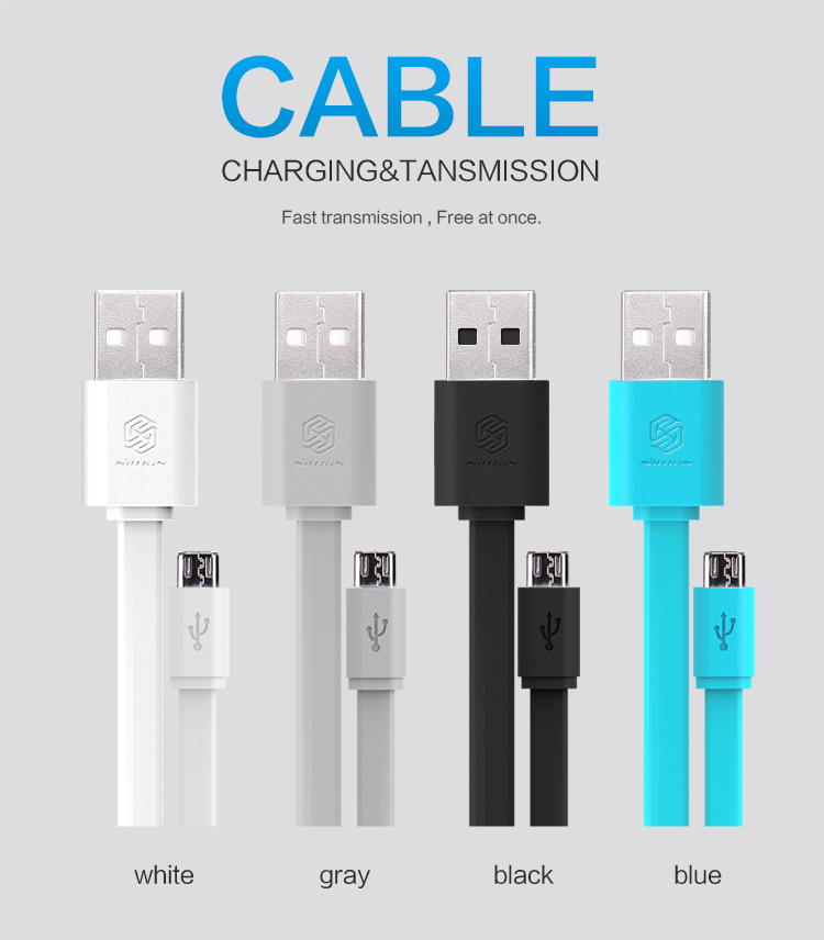 Nillkin Universal Flat Micro USB 2.0 Charge Cable Data 120cm Quick Sony LG Lenovo HTC Xiaomi HUAWEI - NILLKIN Foison Group1 Store store