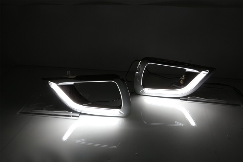 A&T car styling For Nissan Navara LED DRL For Navara led fog lamps daytime running light High brightness guide LED DRL