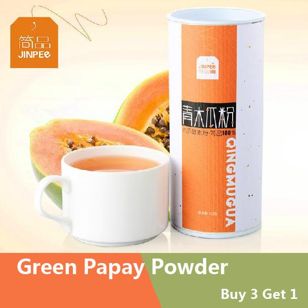 Buy 3 Get 1 Green Papaya Powder Herbal Tea Green Papaya Tea 150g(China (Mainland))