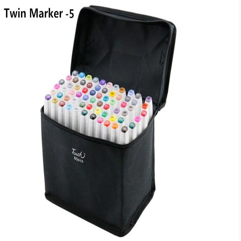 Гаджет  New Arrival,The updated 5 generation of TouchFIVE twin art alcohol marker pen 80 colors with bags / free shipping!! None Офисные и Школьные принадлежности