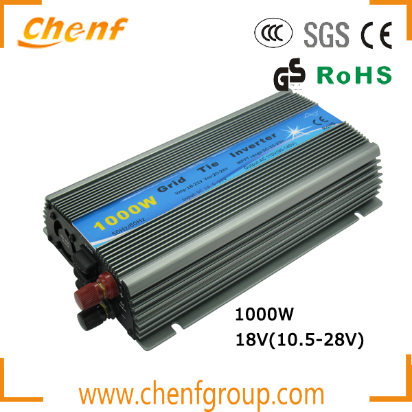 (One Piece Sale)! 1000W Grid Tie Inverter MPPT Function, Pure Sine Wave10.5-28VDC Input to 110V/220VAC Output Micro Inverter 1KW(China (Mainland))