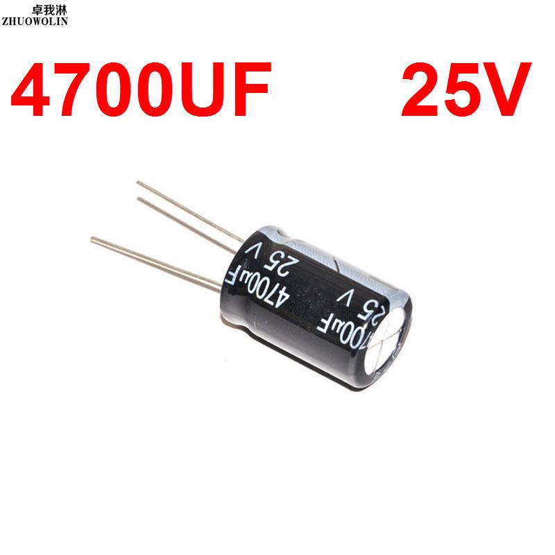 5PC/Lot 4700UF 25V Electrolytic Capacitor SIZE 16X25MM YXSMDZ2538(China (Mainland))