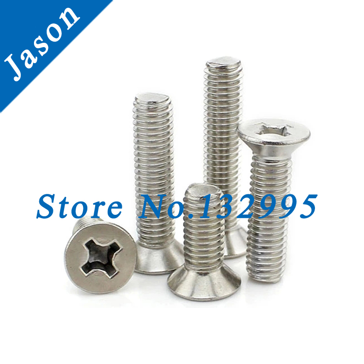 2#-56*1/4 Stainless steel A2 Machine Phillips Flat Head Screw SUS 304 Flat Head Screw 2#*L(China (Mainland))