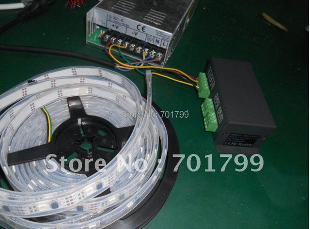 LT-DMX-1809(WS2811) DMX Decoder+5m WS2811 led dream color strip,DC5V input,waterproof in tube