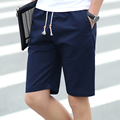 2017 Summer Fashion shorts men Casual mens  shorts knee length male cotton Slim Korean straight  trousers plus size b