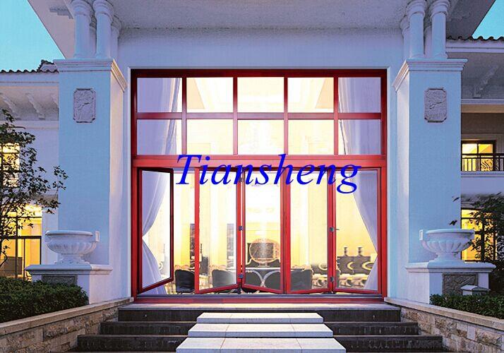 Accordion Aluminum Glass Patio Exterior 24 Inches Bifold Doors Folding