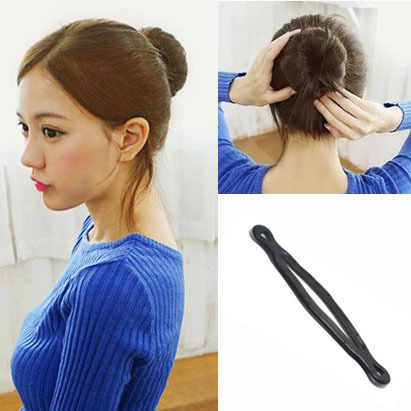 2015 New Fashion Women Magic Hair Styling Clip Stick Hairbands Black Bun Maker Hair Accessories A7R31(China (Mainland))