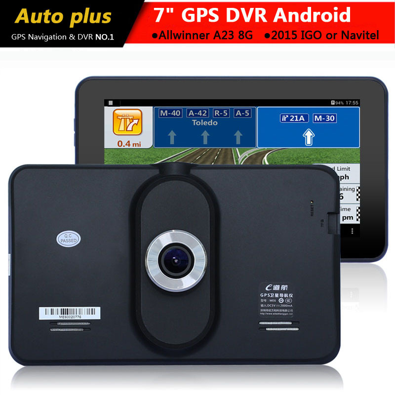 New 7 inch Car Auto GPS Navigation Android 4.4 Car dvr Recorder Camera Truck vehicle gps navigator Europe/Russia/Belarus/Turkey(China (Mainland))