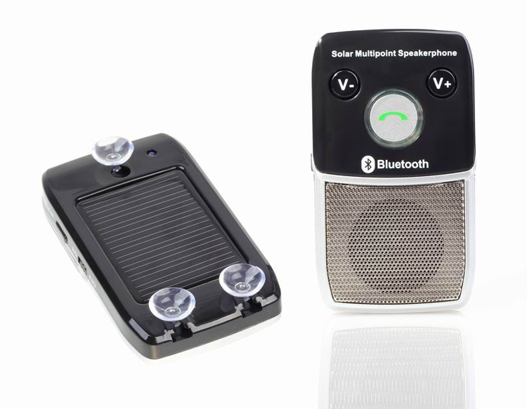Solar Power Charger New Parrot Bluetooth Hands Free Car Kits for iPhone Samsung(China (Mainland))