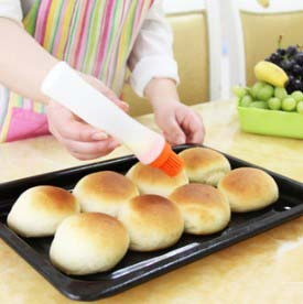 Baking Tool Oil Sweep with Tube Butter Brush  Pastry Brush Cake Tools for Melted Butter/Chocolate Egg Yolks Oil Silicone Brush