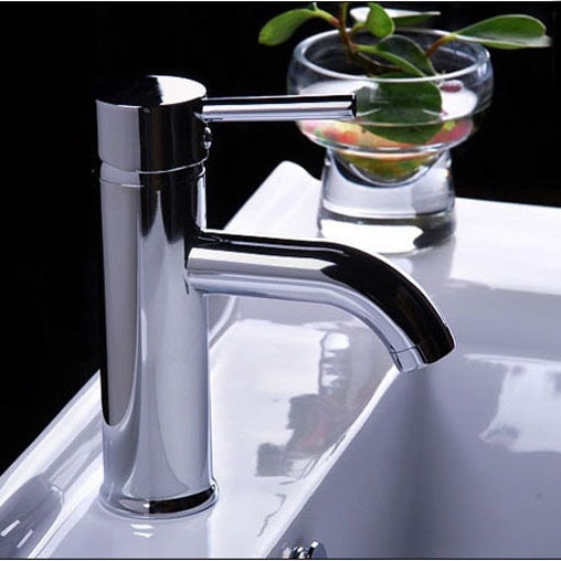 Basin Tap Bathroom Chromed Mixer Single handle hole Deck Mounted brass faucet CODE-7026 - becola Official Store store