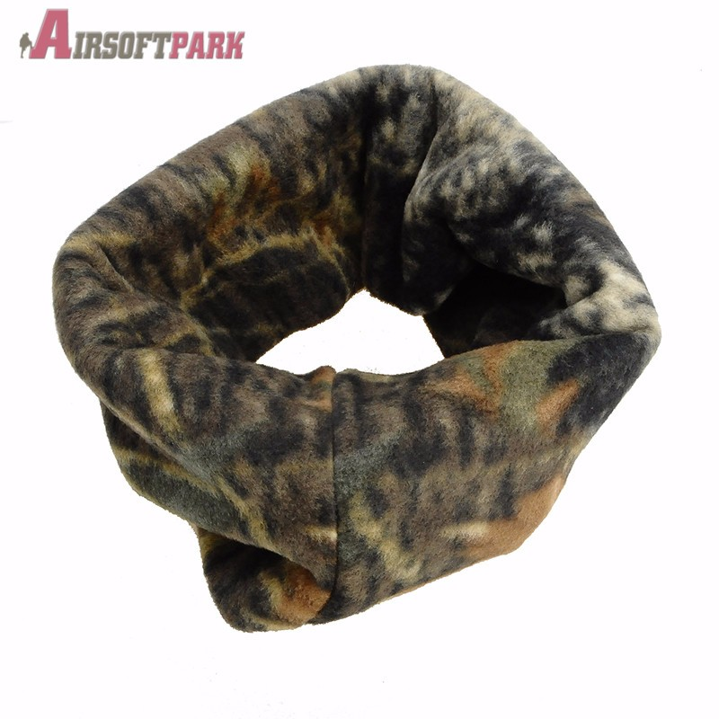 Tactical Outdoor Cycling Hunting Bionic Winter Woodland sniper Camouflage Camp Warm Fleece Scarves Quick Dry Warm Scarves RC-014
