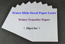 (20pcs/lot) A4 Clear /Transparent Paper Water Slide Decal Paper Laser Water Transfer Paper For Glass Waterslide Decal Paper(China (Mainland))