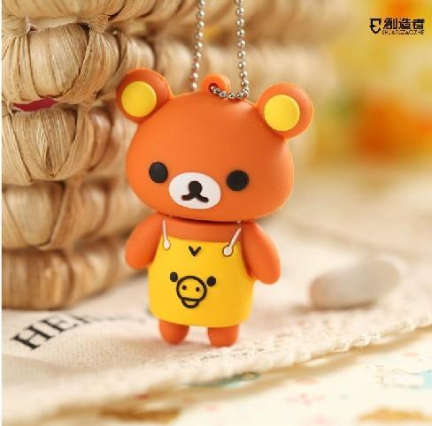 Wholesales 10 pcs/lot  New cartoon mini bear model usb 2.0 memory flash stick pen disk/thumbdrive/car/gift