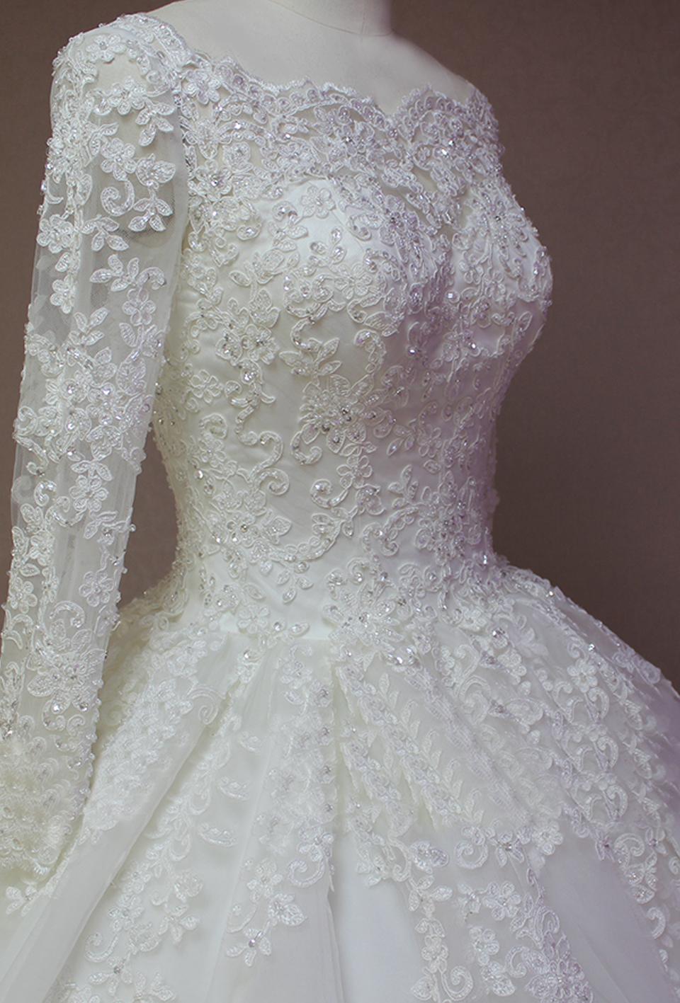 Free veil robe de mariage white ivory us2 4 6 for Long veils for wedding dresses